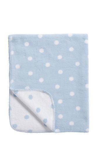 Meyco 1531050 Babydecke / Kuscheldecke aus 100 prozent Baumwolle, 75 x 100 cm, Punkte rosa / weiß