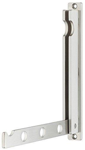 Moderner Klapphaken Garderobenhaken Kleiderlüfter Kleiderhaken klappbar MITAL zum Einlassen | 140 x 16 / 128 mm | Chrom matt | Möbelbeschläge von GedoTec®