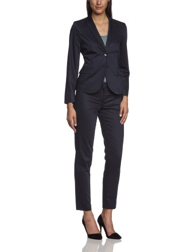More & More Damen Business Blazer 88996552, Reverskragen Regular Fit