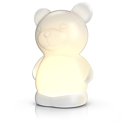 MyBeo - LED Teddybär Nachtlampe / Stimmungslicht für Babys / Kinder Schlaflicht BPA frei | LED-Nachtlicht | LED-Farbwechsel (weiß, rot, grün, blau)