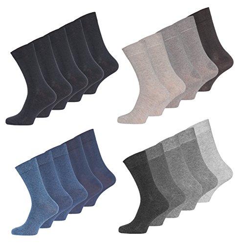 Occulto Herren Business Socken Baumwolle in verschiedenen Farben (10er PACK)