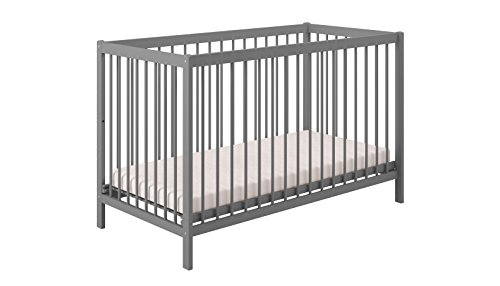 Polini Kids Babybett Gitterbett Kinderbett Simple 101 aus Naturholz lackeirt in verschiedenen Farben
