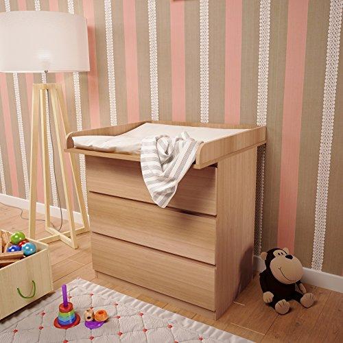 Polini Kids Wickelaufsatz Wickeltischaufsatz für Kommode MALM IKEA in verschiedenen Farben