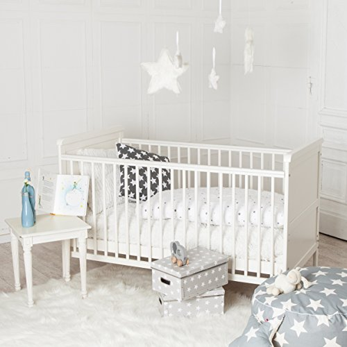 Puckdaddy Babybett 70x140cm weiß, auch als Kinderbett nutzbar