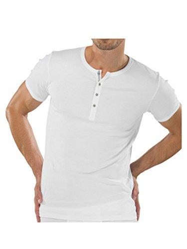 SCHIESSER Herren T-Shirt mit Knopfleiste Naturbursche 2er Pack