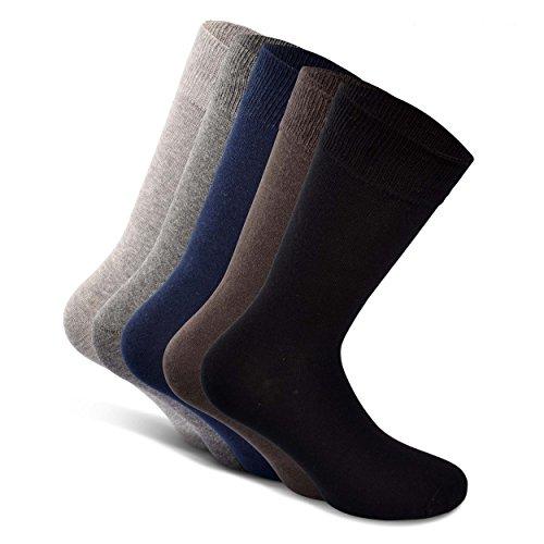 SNOCKS Herren Business Socken (5 Paar) 39-50 Schwarz, Blau, Braun, Grau-Herrensocken Anzug Schuhe – Herrenstrümpfe Arbeit