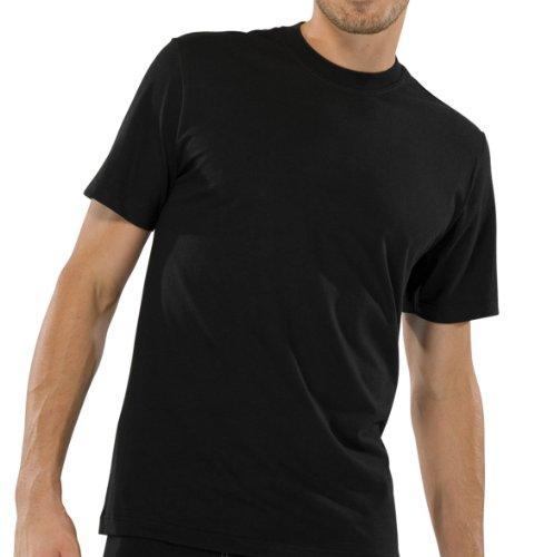 Schiesser American T-Shirt Rundhals Doppelpack - Schwarz