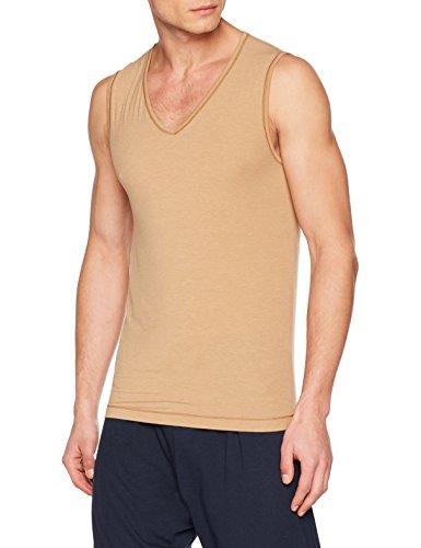 Schiesser Herren Personal Fit Unterhemd Muskelshirt Hautfarben/ Optimales Tank Top unter dem Hemd