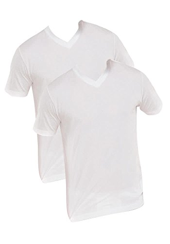 Schiesser Herren T-Shirt V Ausschnitt American Shirt Unterhemd Unterziehshirt, 008151