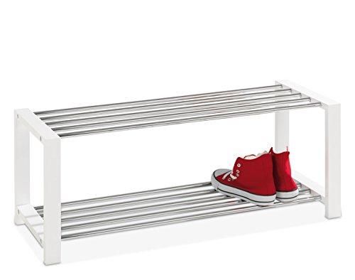 Schuhbank Schuhregal Schuhschrank ULFI 1 | weiß lackiert | 80x32x30 cm