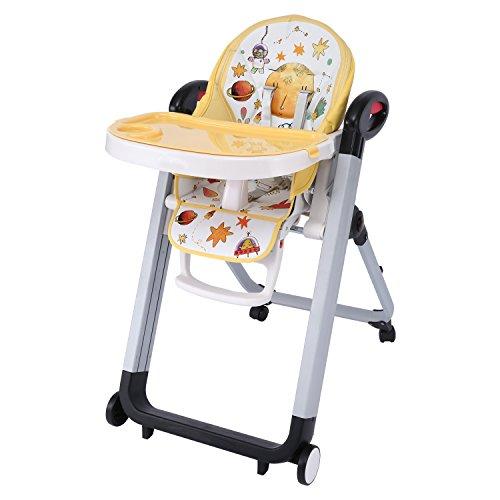 Smibie 3 in 1 tragbarer Babyhochstuhl Kinderhochstuhl klappbar Hochsitz für Baby multifunktionale Babystuhl höhenverstellbare