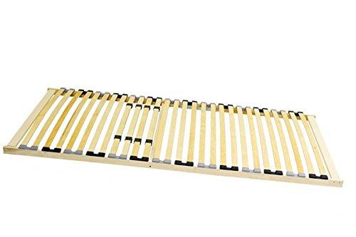 Stabiler 7-Zonen Lattenrost BASIC starr 90x200 100x200 120x200 140x200 cm 28 Leisten -nicht verstellbar- Duo-Kappen