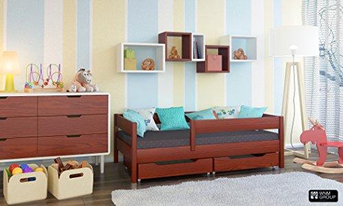 Toddler Miki Kinder Einzelbett mit Schubladen, 4Farben, viele verschiedenen Größen -