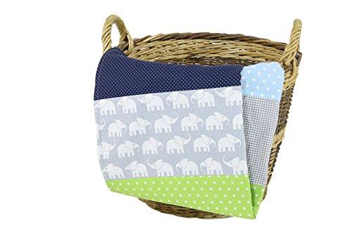 ULLENBOOM ® Babydecke - in 10 Farbdesigns (70x100 cm Baby Kuscheldecke, ideal als Kinderwagendecke, Spieldecke geeignet)