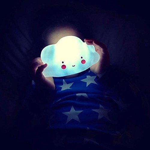 samLIKE Kinder nette Wolke mit Gesichts Form Lampen Raum Licht Korridor Dekor kleines Nachtlicht