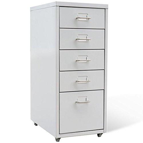 vidaXL Metallschrank Rollcontainer Bürocontainer Büroschrank Schubladenelement