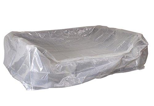 Abdeckhaube für Loungeset / Liegeinsel Manacor, rechteckig 245x165x80cm, PE transparent