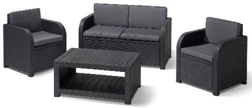 Allibert 192738 Lounge Set Modena Set, Rattanoptik, Kunststoff