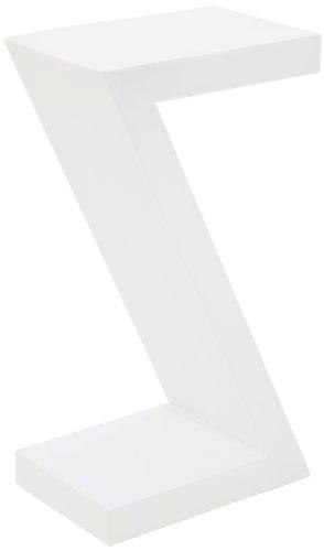 Beistelltisch Z White, hoher, schmaler Telefontisch, moderner Designcouchtisch, Nachttische, weiß Hochglanz, (H/B/T) 55x30x20cm