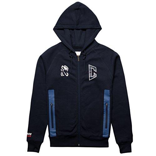 CHABOS IIVII Herren Oberteile / Zip Hoodie Athletic Raglan Zipper