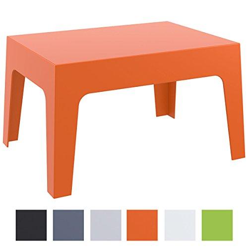 CLP Design Garten Lounge-Tisch / Sonnenliegen-Beistelltisch BOX, 70 x 50 cm, Höhe 43 cm, stapelbar, wasserabweisend, UV-beständig