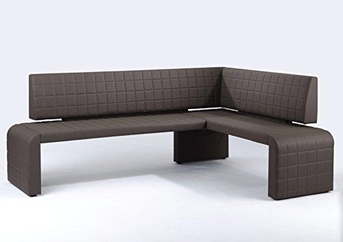 Cavadore Eckbank Cobra / Gepolsterte Kunstleder-Sitzbank mit Lehne
