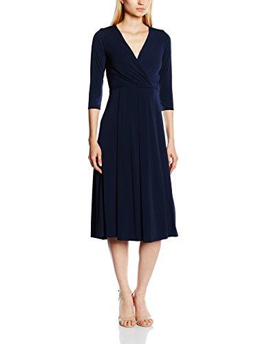 Closet Damen Kleid V Neck 3/4 Sleeve Midi