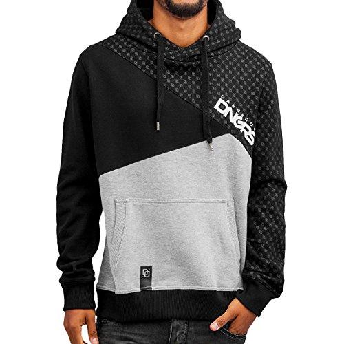 DNGRS Symbols Hoodie Herren Pullover Dangerous Kapuze Kängurutaschen Männer Sweatshirt Grau Schwarz DefShop S M L XL XXL