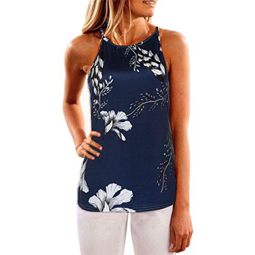 Damen Tops,Btruely Frau Ärmellos T-Shirt Blume Gedruckt Tank Tops