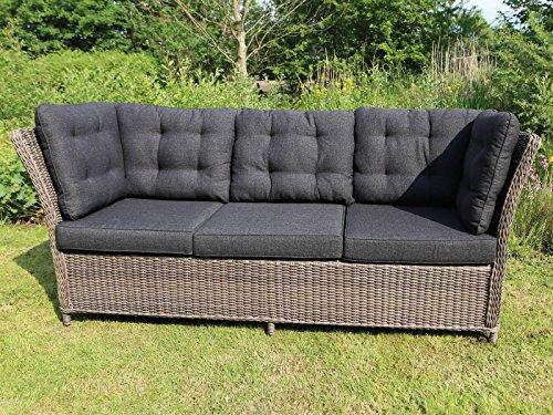 Destiny 3er Loungesofa Palma Vintage Grau Lounge Sofa Gartensofa Dininglounge