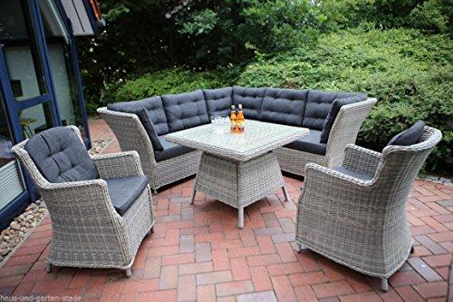 Destiny Loungegruppe Palma Luna Vintage Weiß Lounge Sitzgruppe Dininglounge