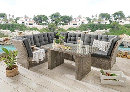 Destiny Loungegruppe Palma Riviera XL Vintage Grau Lounge Garnitur Dininglounge