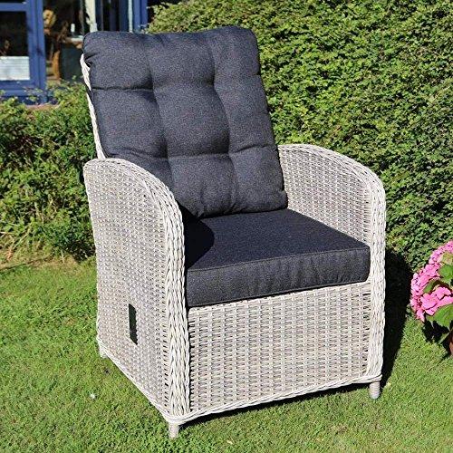 Destiny Loungesessel Merano Sessel Polyrattan Komfortsessel Vintage Weiß