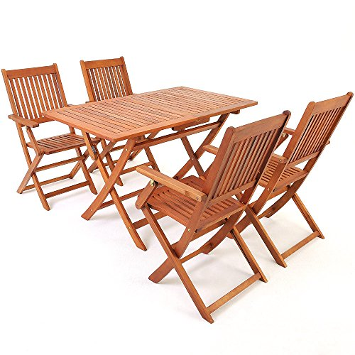 Deuba Sitzgruppe Sitzgarnitur Gartengarnitur Essgruppe Eukalyptusholz Akazienholz Modellauswahl
