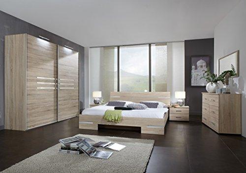 Dreams4Home Schlafzimmerkombination 'Kalabri V', Schrank, Bett, Nachtschrank, Schlafzimmer komplett