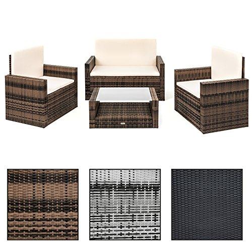 "ESTEXO® Polyrattan Sitzgruppe ""Wittigo"", Garten Lounge aus Rattan, Set, Gartengarnitur, Gartenmöbel"