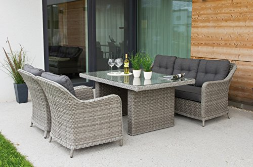 Edle Design ALU Rattan Sitzgruppe in and out Lounge Pelago bis 11 Personen