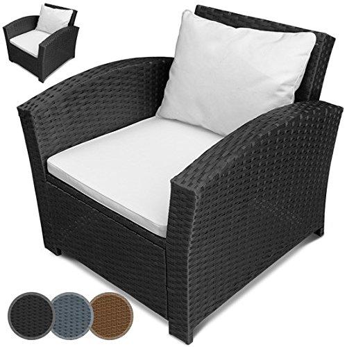 Einzelsessel aus Polyrattan | 2er Set | Farbwahl | Premium Lounge Sessel | Lounge Sofa | Gartenmöbel | Rattan Sessel | Balkonmöbel
