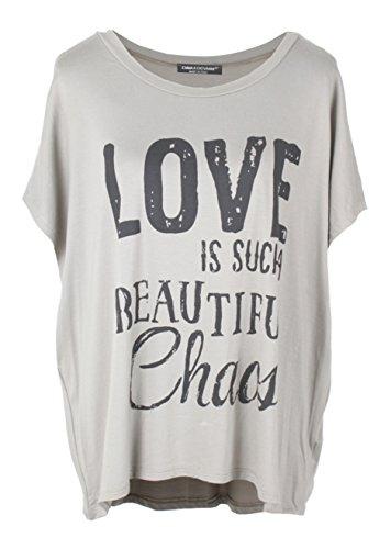 Emma & Giovanni T-Shirt/Oberteile Kurzarm mit Druck Love- Damen