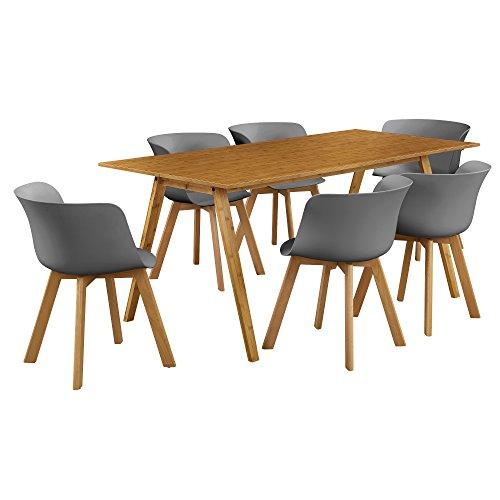 Esstisch mit 6 Stühlen (Farbe auswählbar)