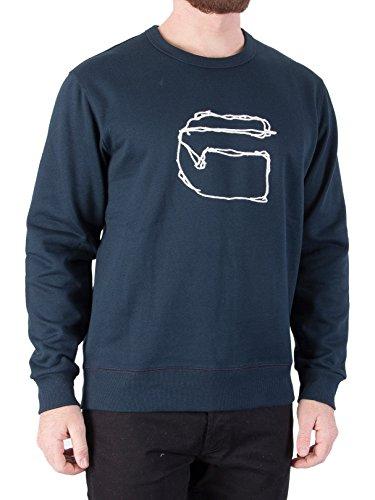 G-Star Herren Monthon Sweatshirt, Blau