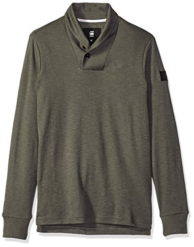 G-Star Raw Men's poult Shawl Collar Pullover, GS Grey/Asfalt, X-Large