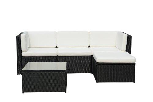 Gartenfreude Loungegruppe, Aluminiumgestell, wetterbeständig