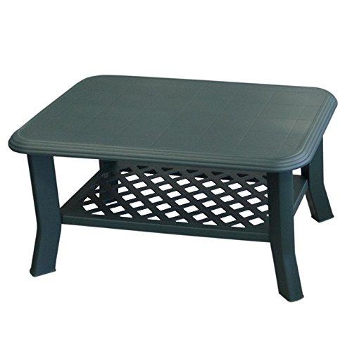 Gartentisch NISO 90x60xH47cm Vollkunststoff / Grün - Campingtisch Beistelltisch Loungetisch Couchtisch