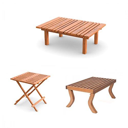 Gartentische für Garten, Balkon & Terrasse | Kaffeetisch, Couchtisch oder Klapptisch | Holztische wetterfest | Gartenmöbel aus vorbehandeltem Holz