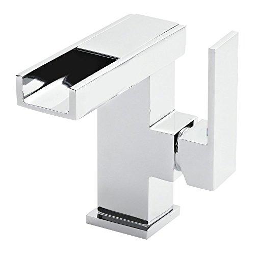 Grünblatt LED Wasserfall Bad Armatur Waschtischarmatur Einhebelmischer Wasserhahn Badarmaturen armaturen Waschtischarmaturen