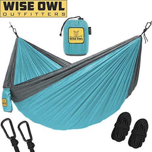 Hängematte zum Camping – Einzel- & Doppel-Hängematten – topbewertet und top Qualität – Outdoor-Ausrüstung – für Rucksacktouren, Survivaltraining oder Reisen – problemlos transportierbares, leichtes Fallschirm-Nylon