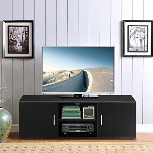 Langria TV-Stand mit 2Türen, zweistufigem, offenen Regal und reichlich flacher Oberfläche