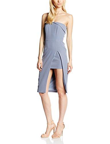 Lavish Alice Damen Kleid Bandeau Thigh High Insert Split Midi Dres