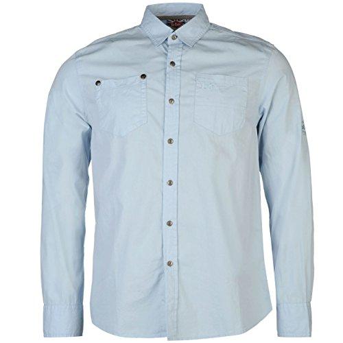Lee Cooper Herren Freizeit-Hemd blau blau